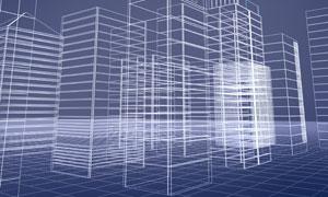 城市建筑物轮廓图片素材
