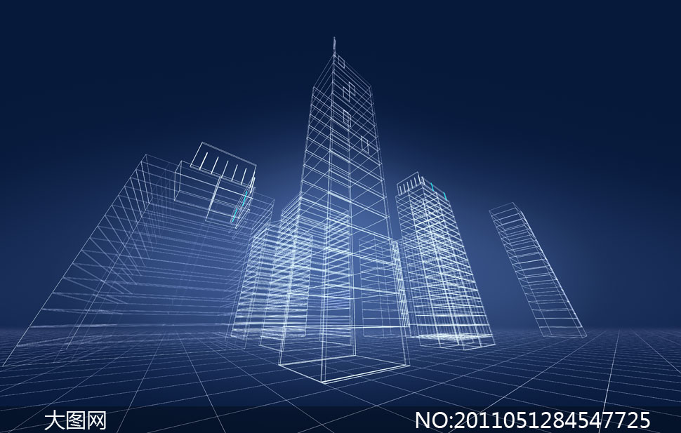 立体三维建筑物高清图片素材