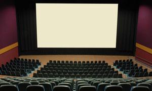 空无一人电影院放映厅摄影图片