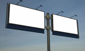 户外空白广告牌摄影图片