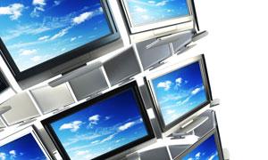 立体三维电视组合摄影图片素材