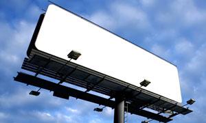 白色户外广告牌摄影图片