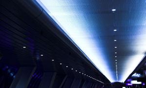 前卫未来派建筑物内部设计图片素材