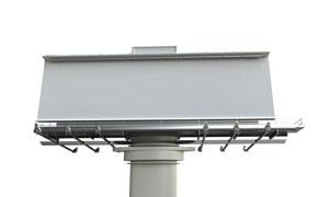 户外塑钢空白广告牌摄影图片