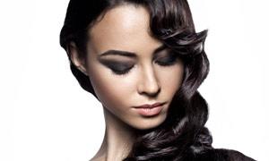 黑色秀发美女高清摄影图片