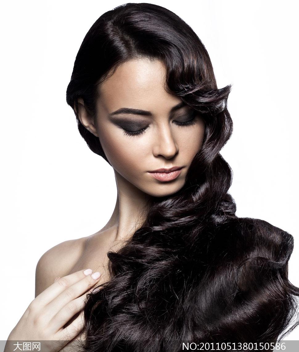 美发 海报 挂图 发型 图片造型烫染理发店装饰画 男 女式订制定做高清