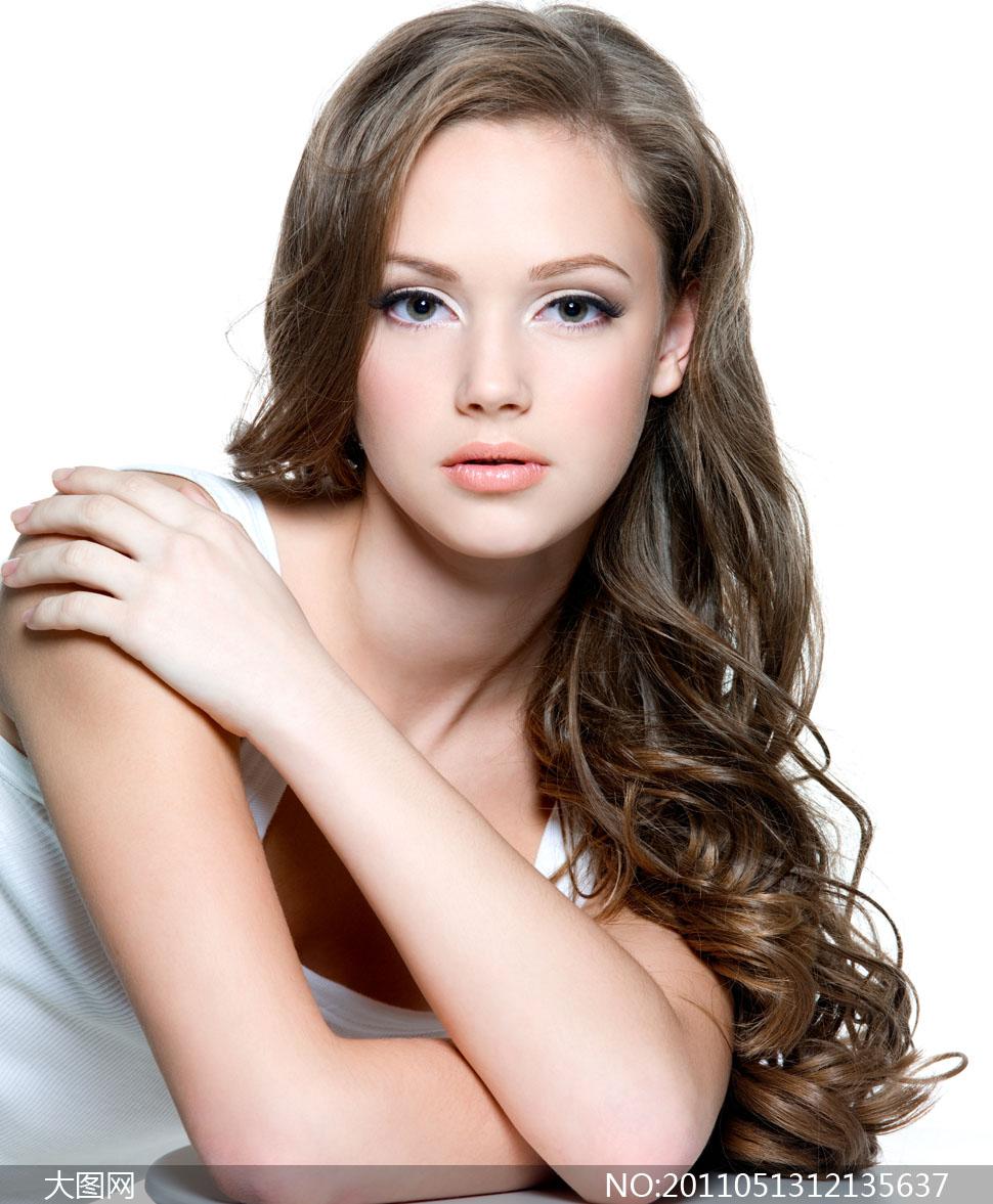 美丽秀发美女高清摄影图片