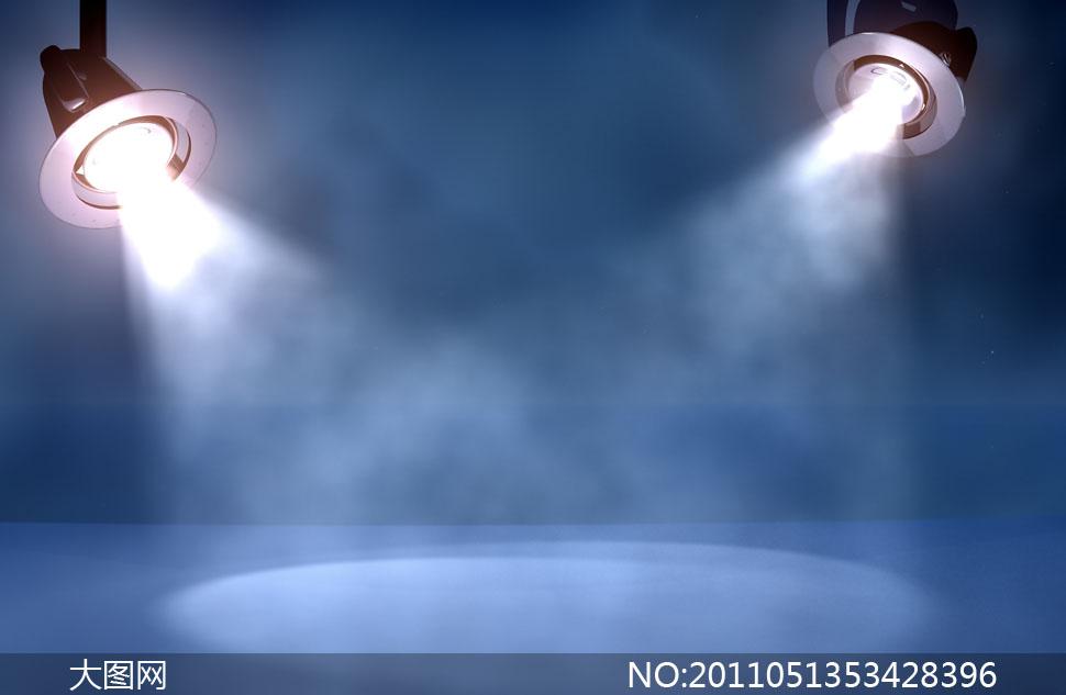 舞台聚光灯烟雾高清图片素材