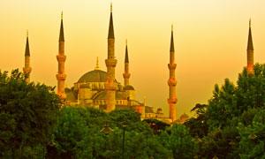 土耳其伊斯坦布尔黄昏摄影图片