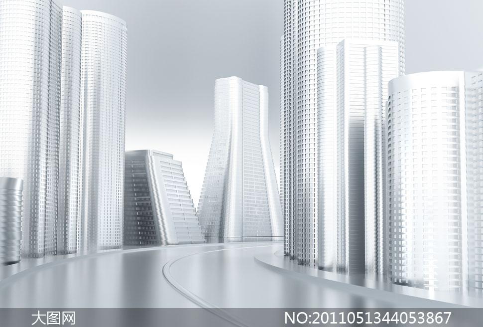 城市摩天大楼建筑物高清图片