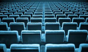 蓝色座椅高清摄影图片