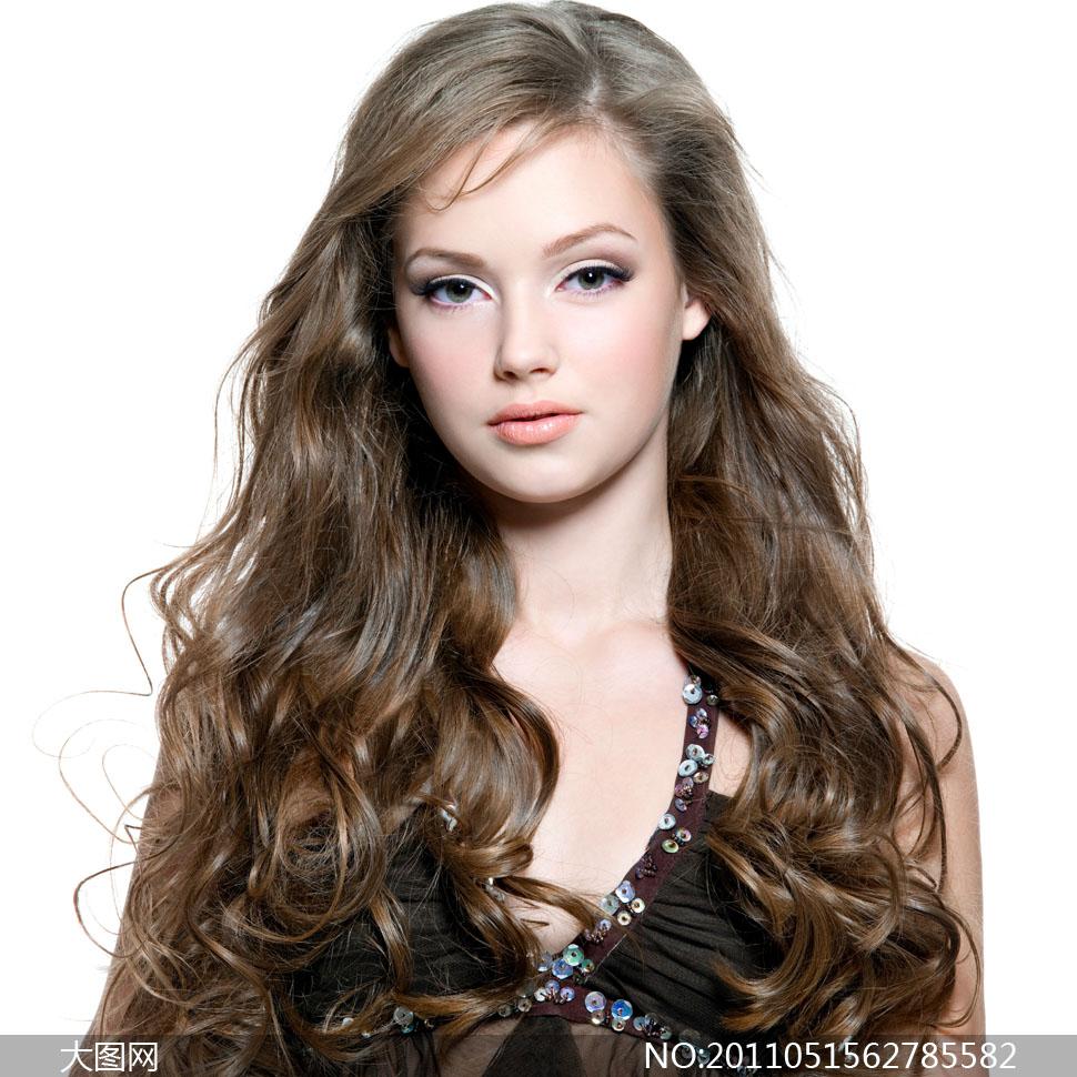 摄影大图图片人物人像美发美女外国国外长发头发发型