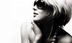 戴太阳镜的美女摄影图片