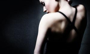 外国美女背部高清摄影图片