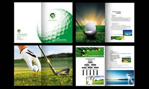 绿色风格的高尔夫画册设计矢量素材