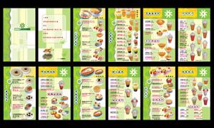 甜品菜单菜谱设计矢量素材