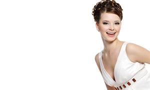 美丽笑容美女发型摄影图片