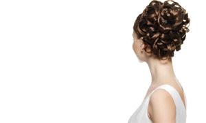 美女人物盘头发型高清摄影图片