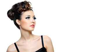 美容美女发型高清摄影图片
