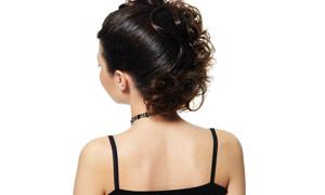 美女发型后视高清摄影图片