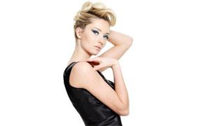 美女发型设计展示高清摄影图片