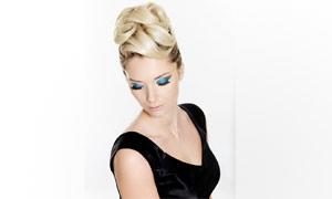 外国美女人物发型展示高清摄影图片