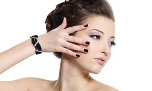 靓丽美女人物发型展示高清摄影图片