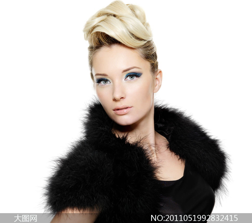 高贵女人发型展示高清摄影图片