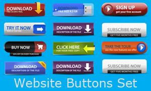 网页下载按钮设计矢量素材
