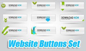 网页灰白色下载按钮设计矢量素材