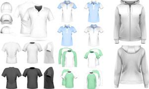 体恤衫POLO衫卫衣等服装设计模板