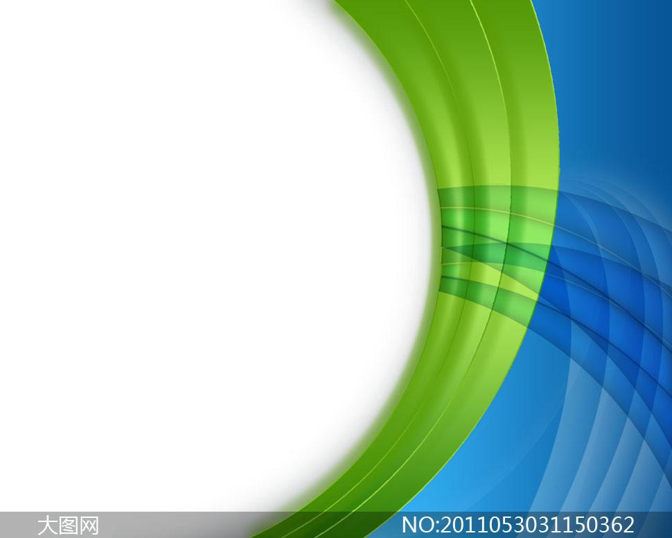 蓝色与绿色相间抽象科技背景PSD分层素材