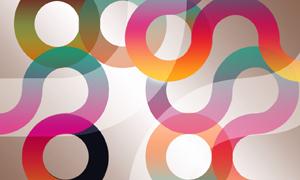 抽象炫彩圆圈背景设计PSD分层素材