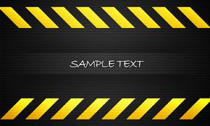 黄色警告斜杠与黑色网眼背景PSD分层素材