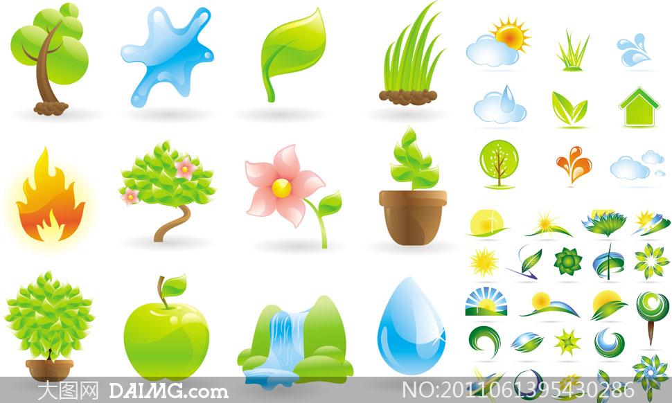与自然相关的标志图标设计矢量素材图片