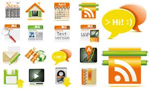 16个立体质感网页图标设计矢量素材