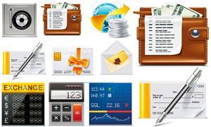 9个财经金融网页图标设计矢量素材