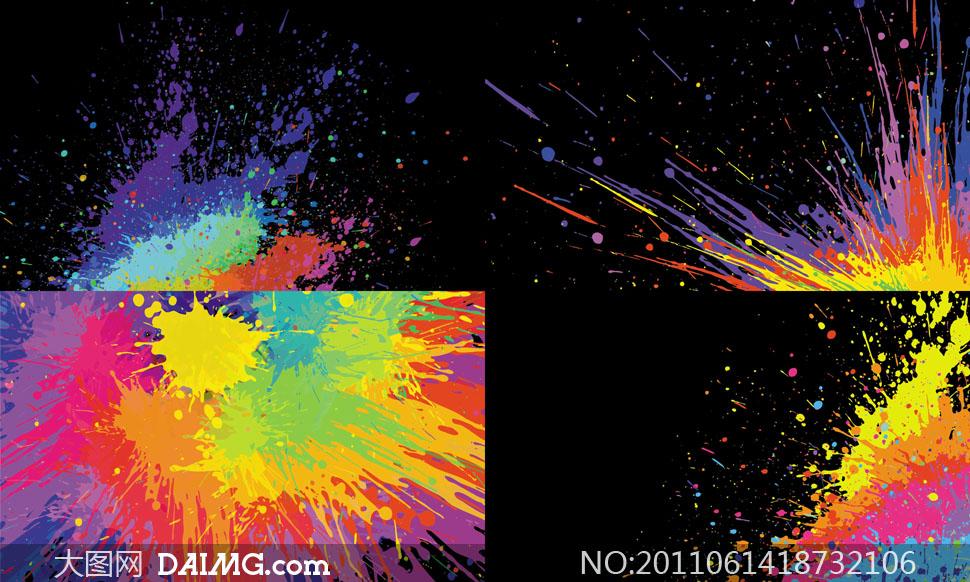 免费下载 关键词: 矢量素材矢量图喷溅背景颜料缤纷色彩炫彩泼墨油彩
