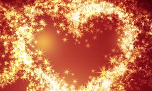梦幻璀璨心形星光背景高清图片