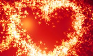 璀璨星光组成的心形创意高清图片