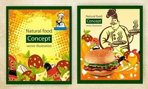 国外饮食海报设计矢量素材