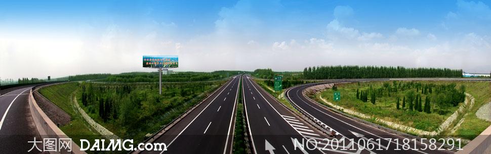 高速公路全景高清摄影高清图片