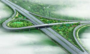 高速公路立交桥高清效果图片