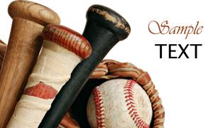 垒球运动装备高清摄影图片