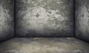 斑驳墙面立体空间高清摄影图片