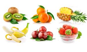 猕猴桃香蕉菠萝等水果高清摄影图片