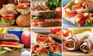 丰盛美味菜肴高清摄影图片素材
