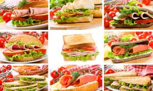 三明治快餐食品高清摄影图片