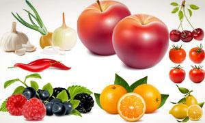 逼真质感水果蔬菜矢量素材