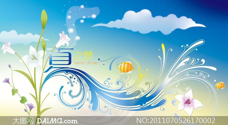 夏之梦商场吊旗设计psd分层源文件 - 大图网设计素材图片